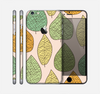 The Abstract Pastel Lined-Leaves Skin for the Apple iPhone 6 Plus