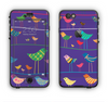 The Abstract Pattern-Filled Birds Apple iPhone 6 LifeProof Nuud Case Skin Set