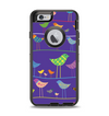 The Abstract Pattern-Filled Birds Apple iPhone 6 Otterbox Defender Case Skin Set