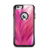 The Abstract Pink Flowing Feather Apple iPhone 6 Plus Otterbox Commuter Case Skin Set