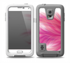 The Abstract Pink Flowing Feather Skin for the Samsung Galaxy S5 frē LifeProof Case