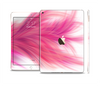 The Abstract Pink Flowing Feather Skin Set for the Apple iPad Air 2