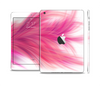 The Abstract Pink Flowing Feather Full Body Skin Set for the Apple iPad Mini 2