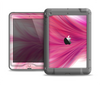 The Abstract Pink Flowing Feather Apple iPad Mini LifeProof Nuud Case Skin Set