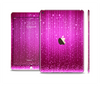 The Abstract Pink Neon Rain Curtain Skin Set for the Apple iPad Air 2
