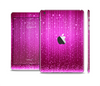 The Abstract Pink Neon Rain Curtain Skin Set for the Apple iPad Mini 4