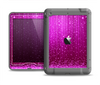 The Abstract Pink Neon Rain Curtain Apple iPad Mini LifeProof Nuud Case Skin Set