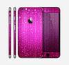 The Abstract Pink Neon Rain Curtain Skin for the Apple iPhone 6 Plus