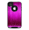 The Abstract Pink Neon Rain Curtain Skin for the iPhone 4-4s OtterBox Commuter Case