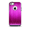 The Abstract Pink Neon Rain Curtain Skin for the iPhone 5c OtterBox Commuter Case