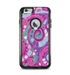 The Abstract Pink & Purple Vector Swirled Pattern Apple iPhone 6 Plus Otterbox Commuter Case Skin Set