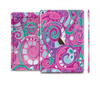 The Abstract Pink & Purple Vector Swirled Pattern Skin Set for the Apple iPad Air 2