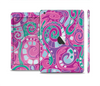 The Abstract Pink & Purple Vector Swirled Pattern Full Body Skin Set for the Apple iPad Mini 2