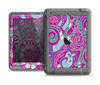 The Abstract Pink & Purple Vector Swirled Pattern Apple iPad Mini LifeProof Nuud Case Skin Set