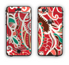 The Abstract Red & Green Vector Pattern Apple iPhone 6 LifeProof Nuud Case Skin Set