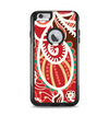 The Abstract Red & Green Vector Pattern Apple iPhone 6 Plus Otterbox Commuter Case Skin Set