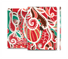 The Abstract Red & Green Vector Pattern Skin Set for the Apple iPad Air 2