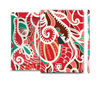 The Abstract Red & Green Vector Pattern Full Body Skin Set for the Apple iPad Mini 2