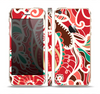 The Abstract Red & Green Vector Pattern Skin Set for the Apple iPhone 5s