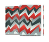 The Abstract Red, Grey and White ZigZag Pattern Skin Set for the Apple iPad Air 2