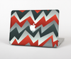 The Abstract Red, Grey and White ZigZag Pattern Skin for the Apple MacBook Air 13""