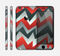 The Abstract Red, Grey and White ZigZag Pattern Skin for the Apple iPhone 6