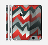 The Abstract Red, Grey and White ZigZag Pattern Skin for the Apple iPhone 6 Plus
