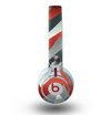 The Abstract Red, Grey and White ZigZag Pattern Skin for the Beats by Dre Mixr Headphones