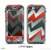 The Abstract Red, Grey and White ZigZag Pattern Skin for the iPhone 5c nüüd LifeProof Case