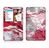 The Abstract Red, Pink and White Paint Splatter Skin For The Apple iPod Classic