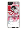 The Abstract Red, Pink and White Paint Splatter Skin For The iPhone 5-5s Otterbox Commuter Case