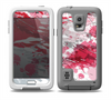 The Abstract Red, Pink and White Paint Splatter Skin for the Samsung Galaxy S5 frē LifeProof Case