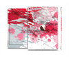 The Abstract Red, Pink and White Paint Splatter Skin Set for the Apple iPad Air 2