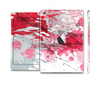 The Abstract Red, Pink and White Paint Splatter Skin Set for the Apple iPad Mini 4