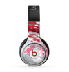 The Abstract Red, Pink and White Paint Splatter Skin for the Beats by Dre Pro Headphones