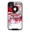 The Abstract Red, Pink and White Paint Splatter Skin for the iPhone 4-4s OtterBox Commuter Case