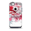 The Abstract Red, Pink and White Paint Splatter Skin for the iPhone 5c OtterBox Commuter Case