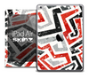 The Abstract Red and Black Pattern Skin for the iPad Air