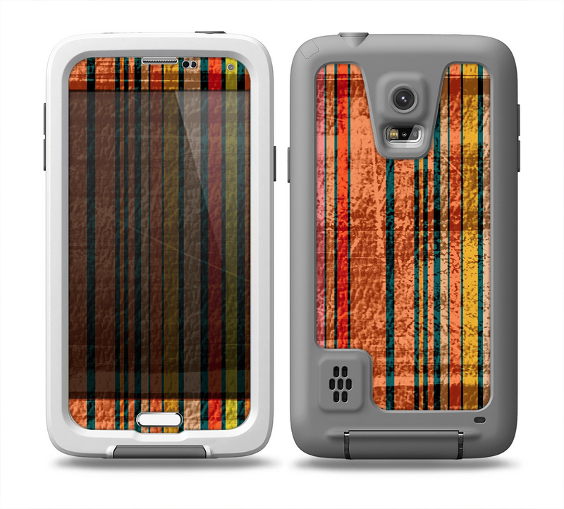 The Abstract Retro Stripes Skin for the Samsung Galaxy S5 frē LifeProof Case