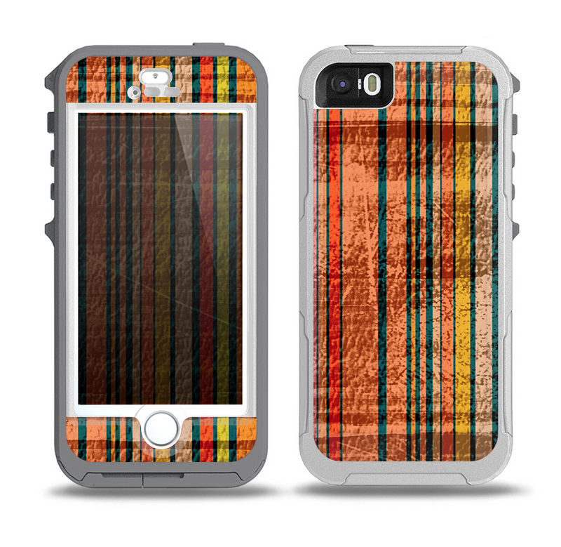 The Abstract Retro Stripes Skin for the iPhone 5-5s OtterBox Preserver WaterProof Case