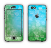 The Abstract Shaped Sparkle Unfocused Blue & Green Apple iPhone 6 LifeProof Nuud Case Skin Set