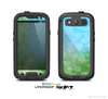 The Abstract Shaped Sparkle Unfocused Blue & Green Skin For The Samsung Galaxy S3 LifeProof Case