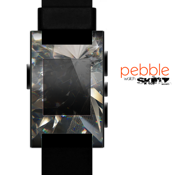 The Abstract Shattered Crystal Pattern Skin for the Pebble SmartWatch