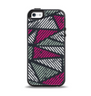 The Abstract Striped Vibrant Trangles Apple iPhone 5-5s Otterbox Symmetry Case Skin Set