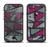 The Abstract Striped Vibrant Trangles Apple iPhone 6/6s Plus LifeProof Fre Case Skin Set