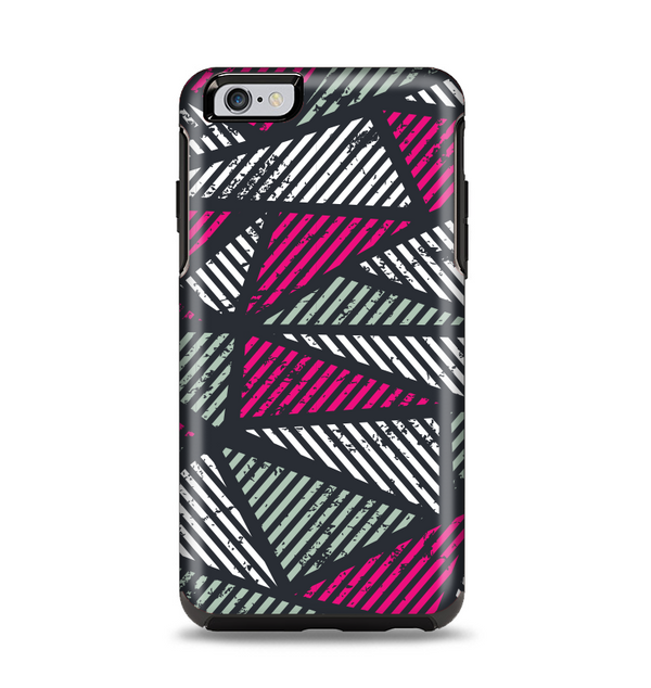 The Abstract Striped Vibrant Trangles Apple iPhone 6 Plus Otterbox Symmetry Case Skin Set