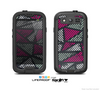 The Abstract Striped Vibrant Trangles Skin For The Samsung Galaxy S3 LifeProof Case
