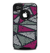 The Abstract Striped Vibrant Trangles Skin for the iPhone 4-4s OtterBox Commuter Case