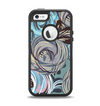 The Abstract Subtle Toned Floral Strokes Apple iPhone 5-5s Otterbox Defender Case Skin Set