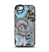 The Abstract Subtle Toned Floral Strokes Apple iPhone 5-5s Otterbox Symmetry Case Skin Set